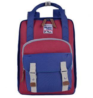 Balo cỡ nhỏ thương hiệuSWISSWIN. Mã sản phẩm 17107 Drak Blue + Brick Red