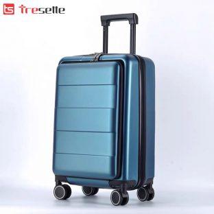Vali khóa kéo siêu bền Tresette nhập khẩu Hàn Quốc TSL-891520BL – 20 inch